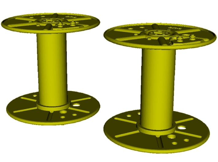 1/6 scale WWII radio telephony wire reels DR-8 x 2 3d printed