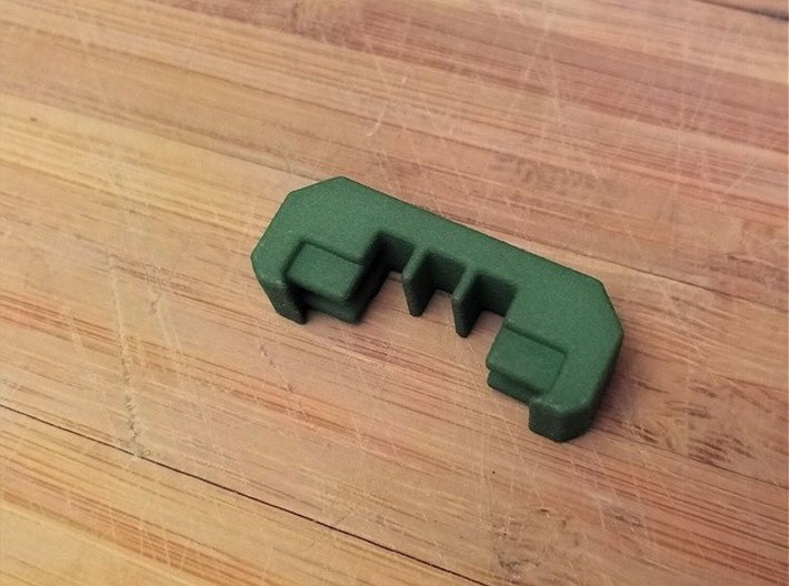 1 SlotModular Picatinny Wire Clip Rail Cover 3d printed