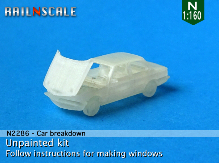 Car breakdown (N 1:160) 3d printed