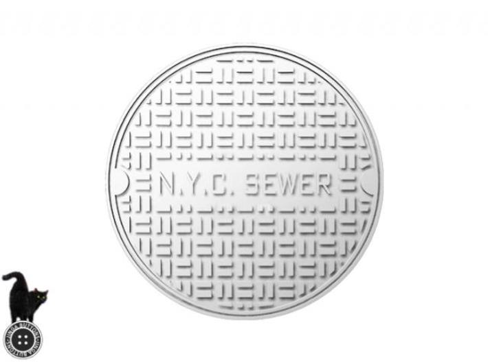 NYC Manhole Large 3d printed