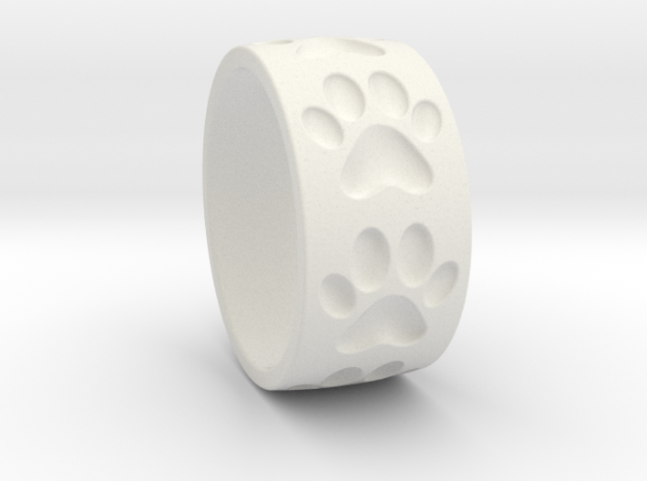 Dog Paw Ring 3d printed