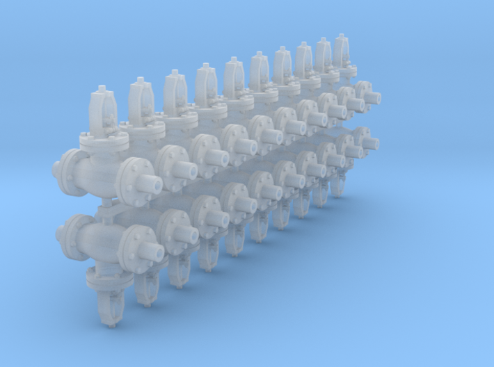 1:48 6 inch Globe Valves 20ea 3d printed