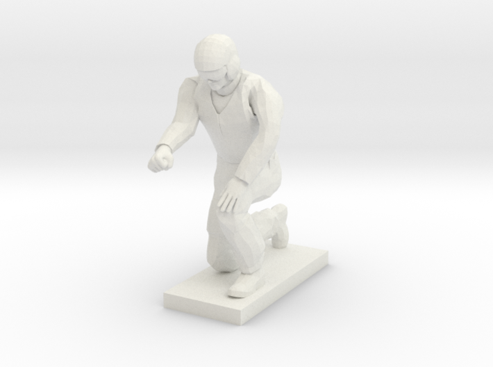 Ground Crew Kneeling 3d printed