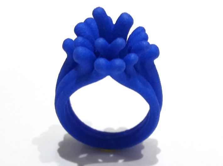 Water and Fire Ring  3d printed