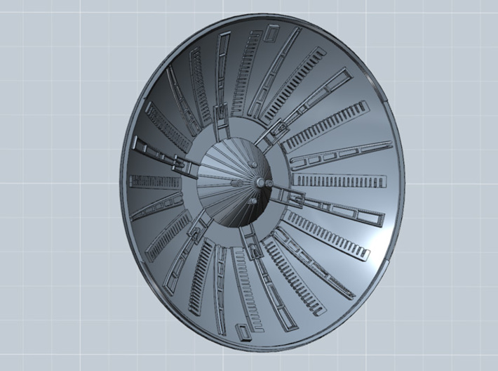 YT1300 FM 1/72 RADAR DISH ESB 3d printed Millennium Falcon radar dish for the Fine Molds 1/72 kit., render.