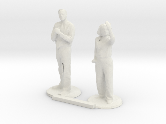 G scale people standing 3 3d printed This is a render not a picture