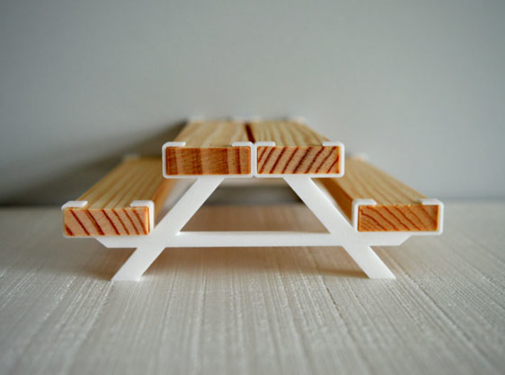 Adapters for picnic table 3d printed Kapla adapter picknicktafel - wit
