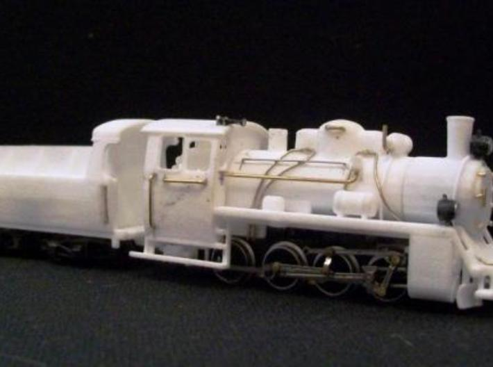 PX48 002: Boiler and cab HOe scale 3d printed PX48 prints 001, 002 and 003 combined on a Graham Farish 8F chassis