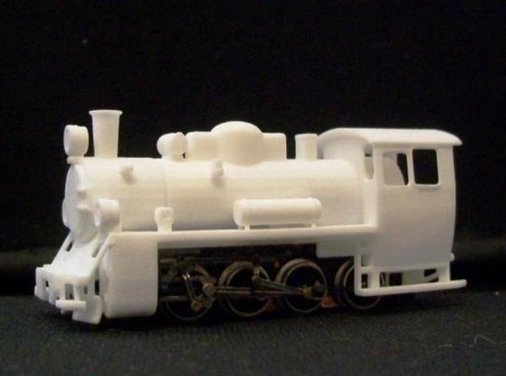 PX48 002: Boiler and cab HOe scale 3d printed PX48 prints 001, 002 combined on a Graham Farish 8F chassis