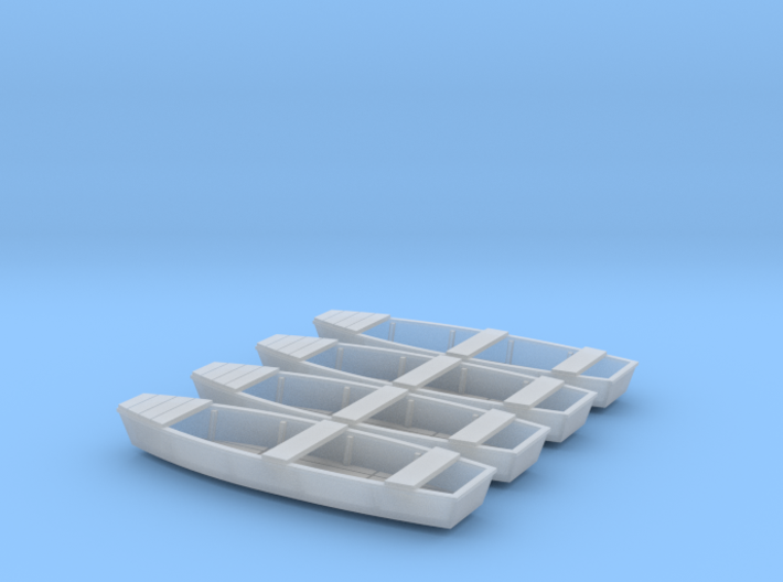 1/87th (H0) scale fishing boat (4 pieces) 3d printed