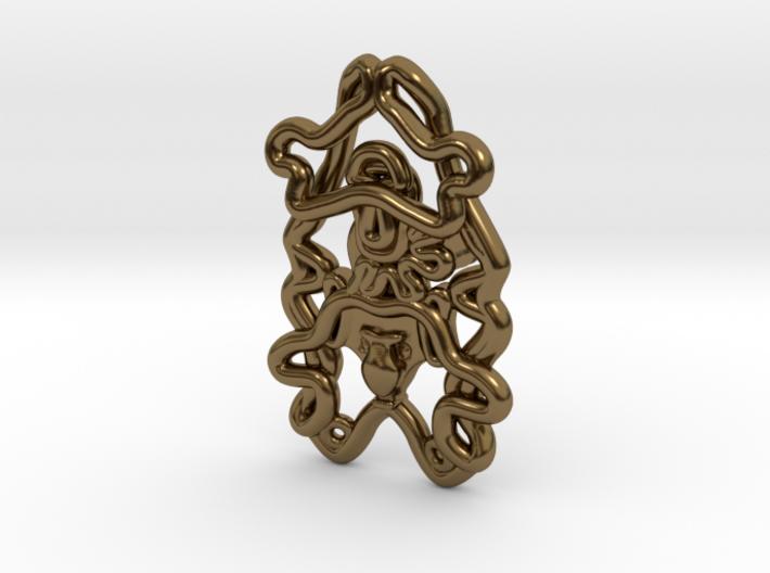 Sea Cucumber Larva Lapel Pin 3d printed