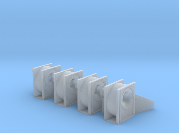 1/64 Centrifugal Fan Without Grill 3d printed