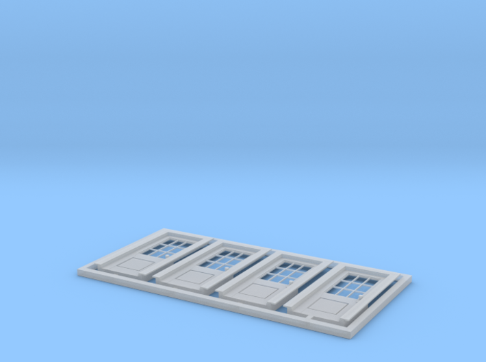 "HO Scale set of four - 6' 10"" x 34 "" No 5 standard 3d printed"