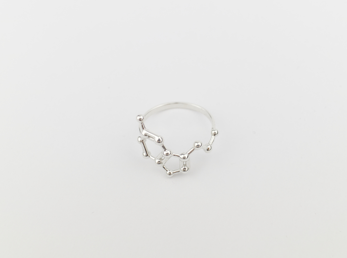 Serotonin (Happiness) Molecule Ring 3d printed
