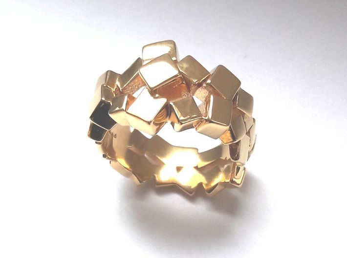 Prism Double Ring (from $15) 3d printed elegant prism ring.