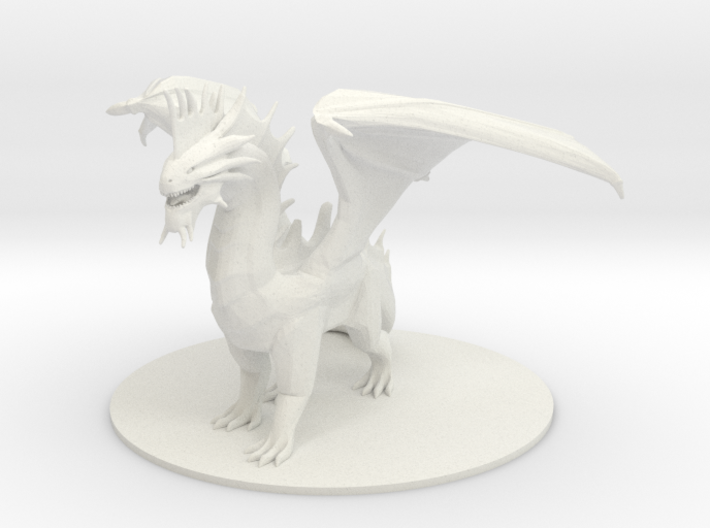 Ancient Silver Dragon 3d printed