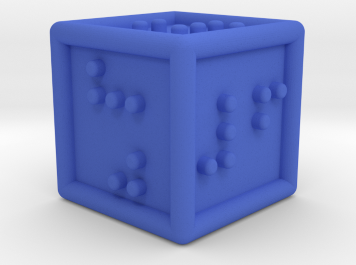 Braille Six-sided Die d6 3d printed