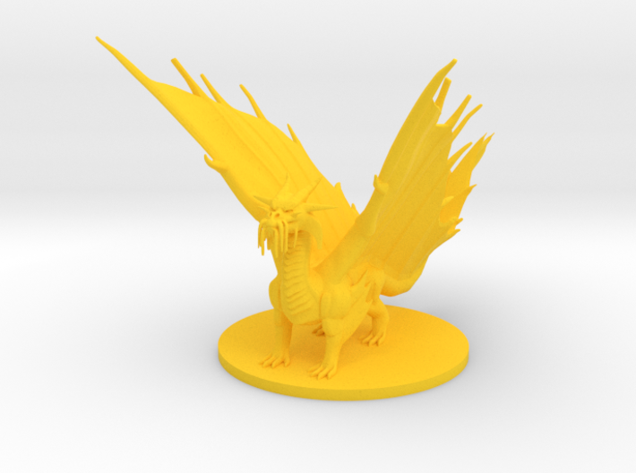 Young Gold Dragon 3d printed