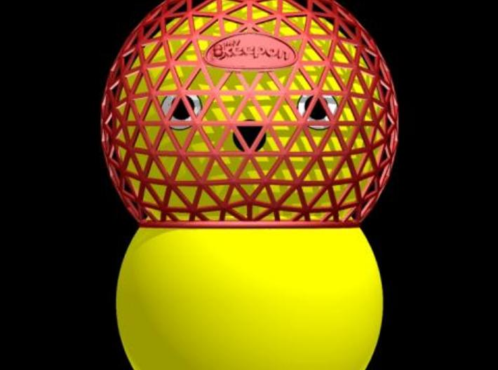 My Keepon Geodesic Helmet 3d printed