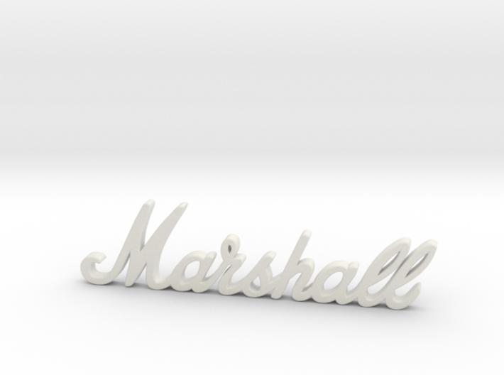 """Marshall Logo - 2.5"""" for Pinball Speaker Panel 3d printed"""