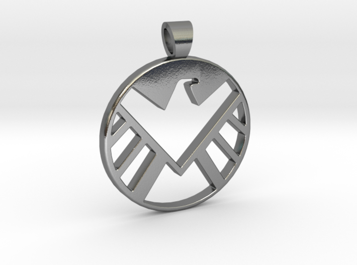 Marvel's shield [pendant] 3d printed