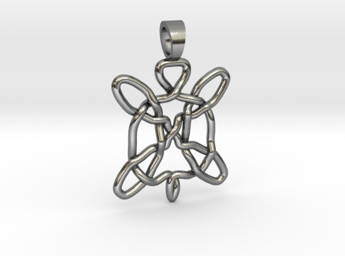 Celtic knot turtle [pendant] 3d printed