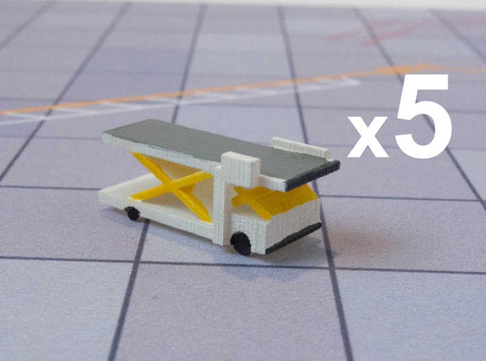 Airport Cargo Lift Fully Extended - Set of 5 3d printed