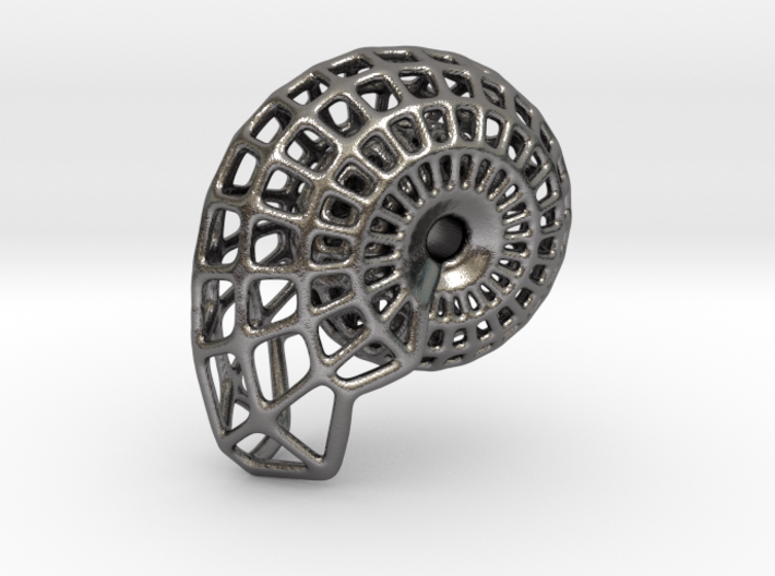 NAUTILUS  Pendant, 3cm length 3d printed