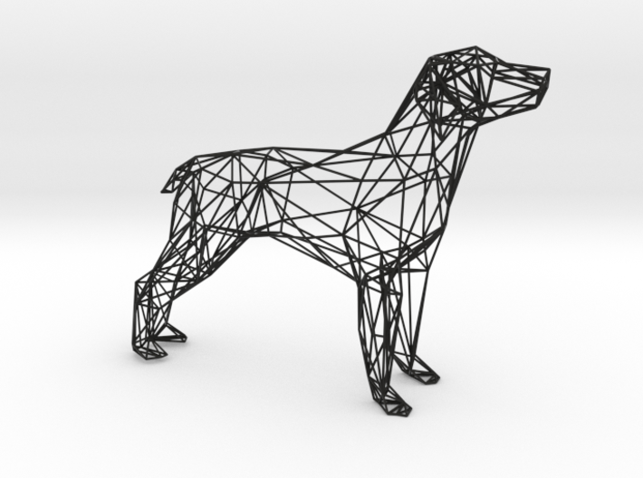 Dog Wire Sculpture 3d printed
