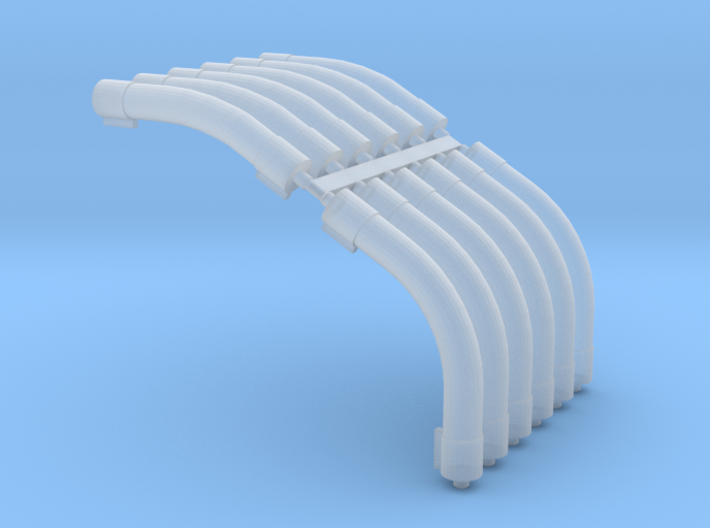1/64 Air System Roof Bends 3d printed