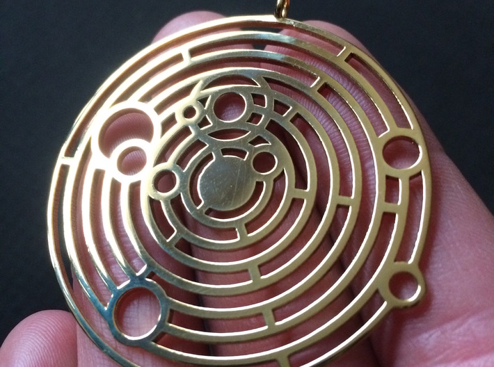 Personalized Solar System Necklace 3d printed