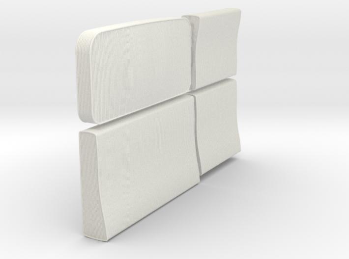 1/12 Ural Truck Seat Cushions Set001 3d printed