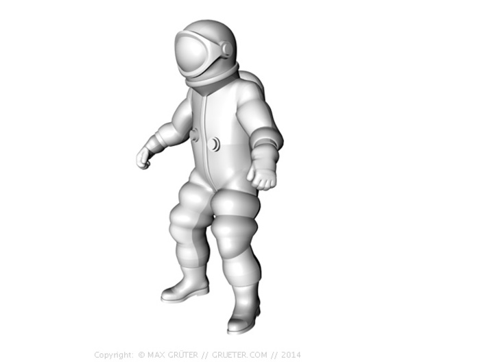 Generic Astronauts Set / 1:72 3d printed Weightless floating position