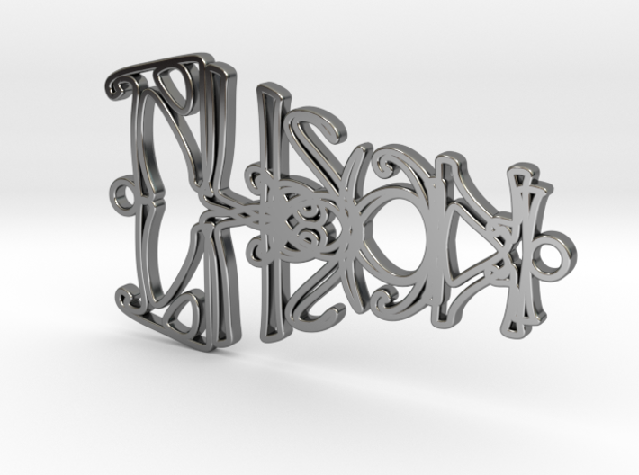 Personalised Mirrored Name Necklace (004) 3d printed Personalised Mirrored Name Necklace (004)