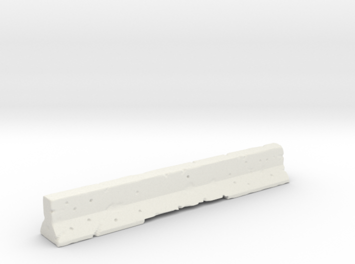 Concrete Road Barrier 3d printed
