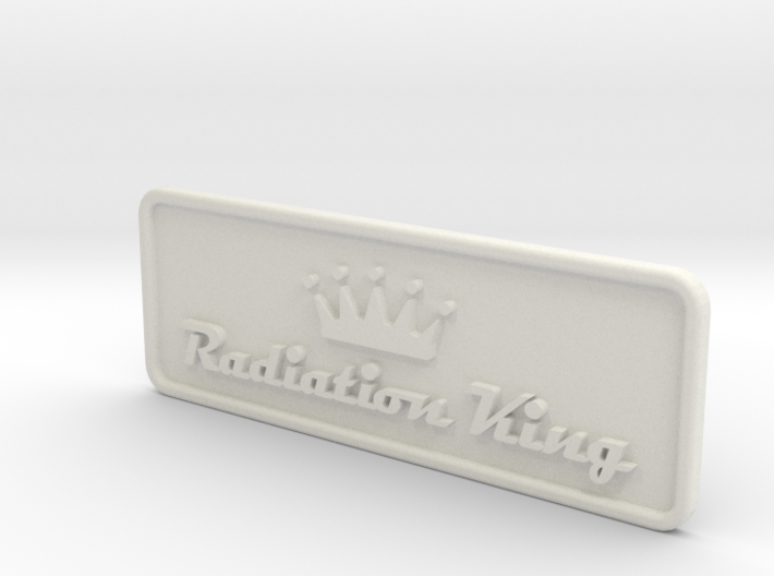 Radiation King TV logo plate 3d printed