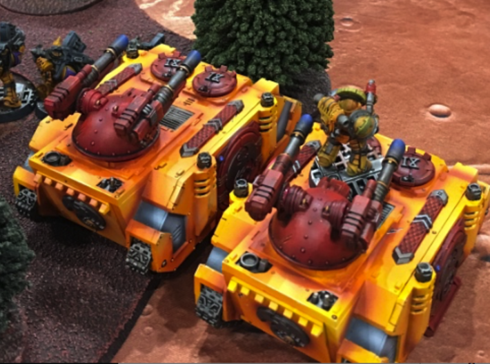 V1A Linebacker Weapons: Twin Laser Cannons 3d printed
