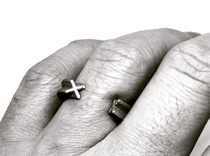 """""""X"""" ring - (Awarded - First prize) - Unisex 3d printed"""