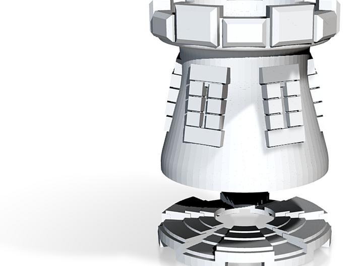 Tower Mug w Detail and Coaster 3d printed