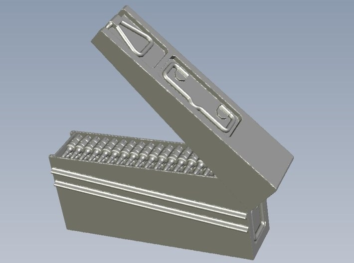 1/10 scale WWII Wehrmacht MG-42 ammo canisters x 2 3d printed