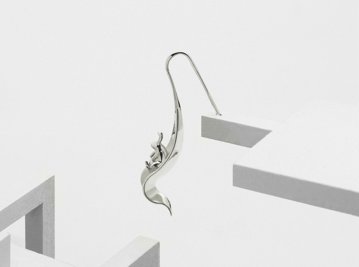 Rabbit Earrings (Listening) 3d printed