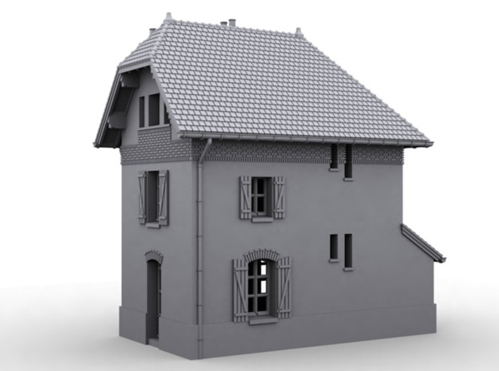 NBay05 - Barrier Guard House left 3d printed