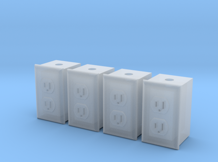 1/12 Dual Outlet, Qty 4 3d printed
