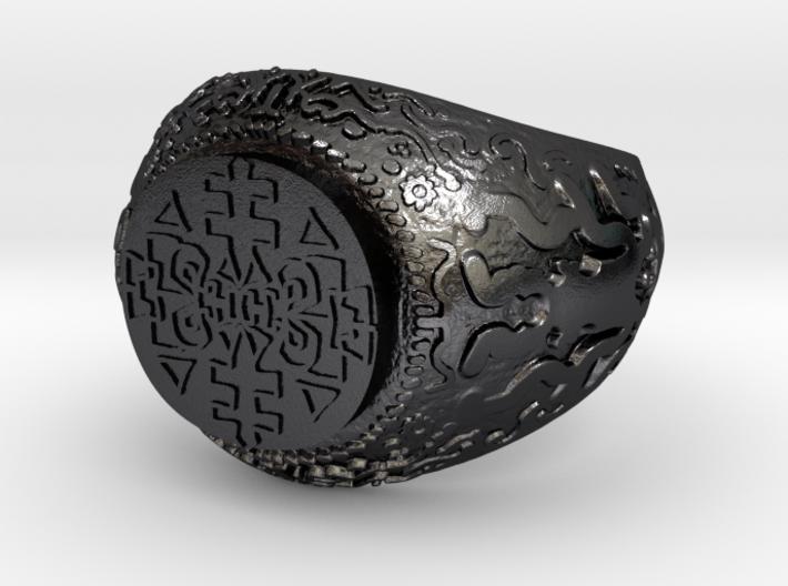 Tribal totem ring 3d printed
