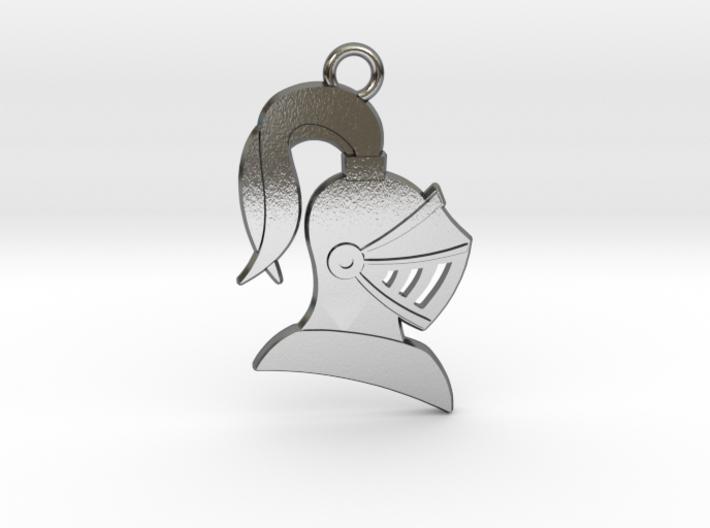 Knight Helmet Pendant 3d printed