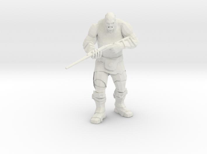 Mutant with Wasteland Shotgun 3d printed