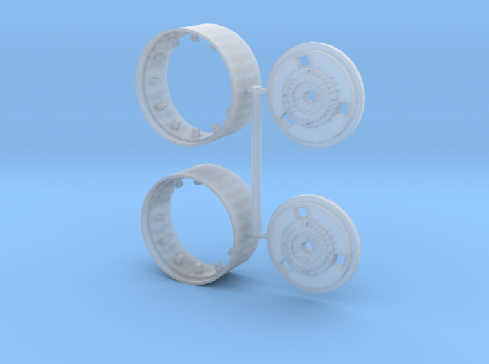 MF rear pair (separate hub and rim) 3d printed