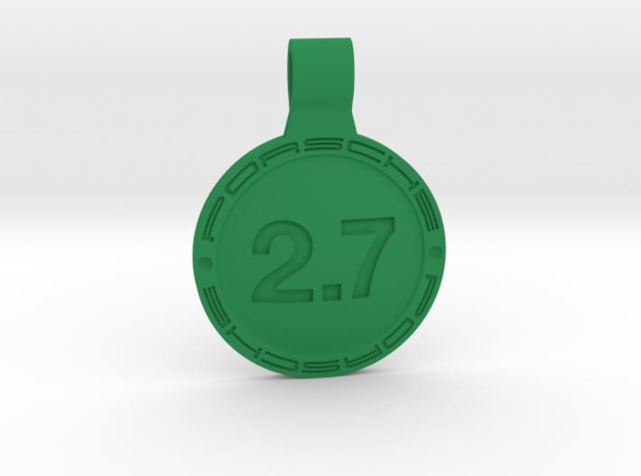 Key ring Porsche 2.7 liters 3d printed