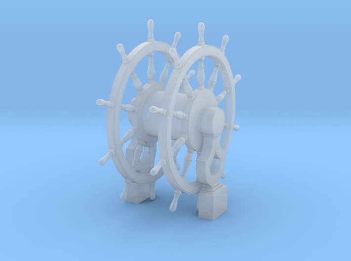 1/64 Ship's Wheel (Helm) for Frigates, Sloops, etc 3d printed