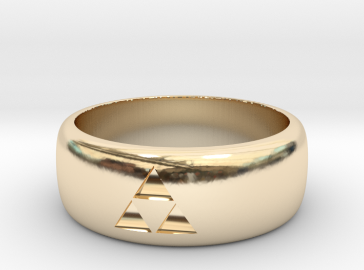 triforce ring size 9 mens 3d printed